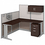 65W x 65D L Workstation with Storage and Accessory Kit