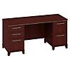 60W x 24D Credenza Desk with 2 Pedestals