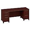 72W x 24D Credenza Desk with 2 Pedestals
