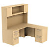 66W X 30D Desk with 36W Return, Hutch and Storage