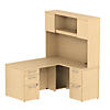 60W X 30D Desk with 30W Return, Hutch and Storage