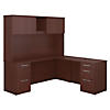 72W x 22D L Shaped Desk with Hutch and 2 Pedestals