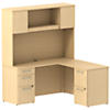 60W x 22D Desk with 36W Return, Hutch and Storage