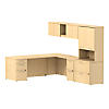 82W L Shaped Desk with Storage