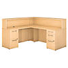 L Shaped Reception Desk with 2 and 3 Drawer Pedestals
