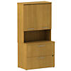 36W 2Dwr Lateral File and 36W Hutch Storage with Doors