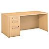 66W x 30D Desk with 3 Drawer Pedestal