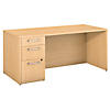 66W x 30D Desk Shell with 3 Drawer Pedestal