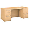 72W x 30D Desk with 2 and 3 Drawer Pedestals