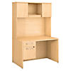48W x 30D Desk Shell with 3/4 Pedestal and Hutch