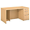 60W x 30D Breakfront Desk with 3 Drawer Pedestal
