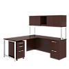 72W x 22D Desk with 48W Return, Hutch and 3 Drawer Pedestal