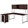 72W X 30D Table Desk w 42W Return and 3 Drawer Mobile Ped