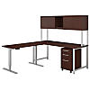72W Desk with 48W Height Adjustable Return and Storage