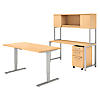 60W x 30D Height Adjustable Standing Desk, Credenza, Hutch and Storage