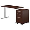 48W X 24D Table Desk with 3 Drawer Mobile Pedestal