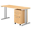 60W x 24D Table Desk with 3 Drawer Mobile File Cabinet