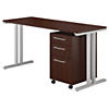 60W x 24D Table Desk with 3 Drawer Mobile Pedestal