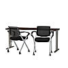 72W x 24D Training Table with Mesh Back Folding Chairs