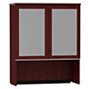 36W Bookcase Hutch with Glass Doors