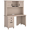 51W Desk with Hutch and 3 Drawer Pedestal