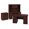 60W Executive Desk, Credenza with Hutch and Lateral File Cabinet