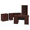 Executive Desk, Credenza, Lateral File Cabinet and 5 Shelf Bookcase