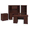 Executive Desk, Credenza with Hutch, Lateral File Cabinet and Bookcase