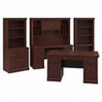 Executive Desk, Credenza, Lateral File Cabinet, Hutches and Bookcase