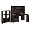 Corner Desk with Hutch and 6 Cube Bookcase
