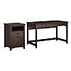 Writing Desk with 2 Drawer File Cabinet