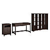 Writing Desk, 2 Drawer File Cabinet and 16 Cube Bookcase