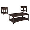 Coffee Table with Set of 2 Laptop End Tables