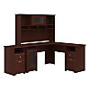 L Shaped Desk with Hutch and 2 Drawer File Cabinet