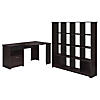 Corner Desk and 16 Cube Bookcase