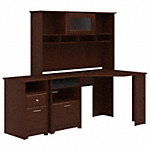 Corner Desk with Hutch and 2 Drawer File Cabinet