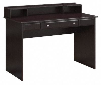 Cabot Collection | Writing Desk with Desktop Organizer | Espresso Oak | CAB025EPO