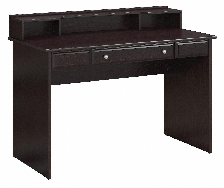 Cabot Collection | Writing Desk with Desktop Organizer | Espresso Oak | CAB025EPO