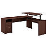 72W 3 Position L Shaped Sit to Stand Desk
