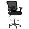 Mesh Back Drafting Chair with Chrome Foot Ring