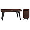 60W x 30D Writing Desk with 2 Drawer File Cabinet