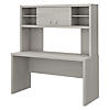 60W Credenza Desk with Hutch