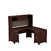 60W x 60D L Shaped Desk with Hutch