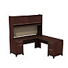 72W x 72D L Shaped Desk with Hutch