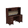 60W x 24D Office Desk with Hutch and 2 Pedestals