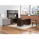 72W Office Desk with Hutch, 2 Pedestals and Credenza