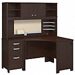 Corner Desk, Hutch and Three Drawer Pedestal