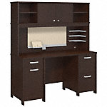 Office Desk with Hutch and 2 Pedestals