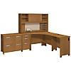 Corner Desk with Hutch and Storage