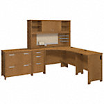 Corner Desk with Hutch and Storage